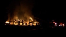 comox fire luxury home