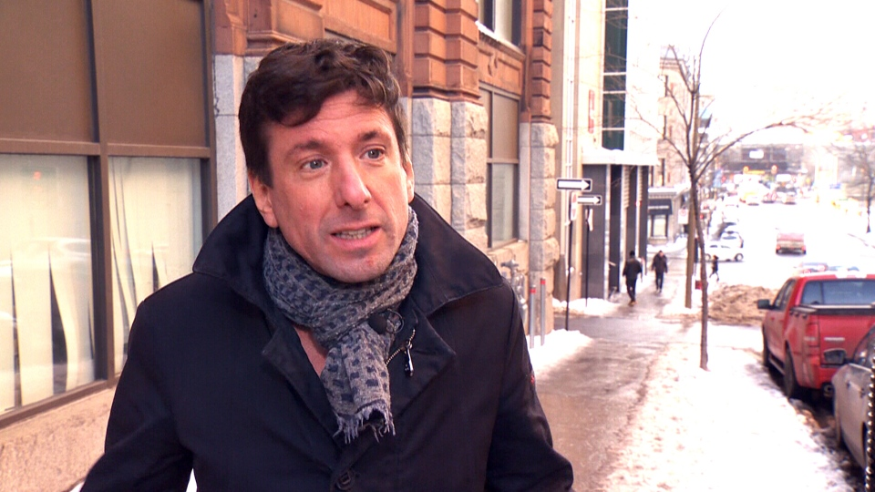 Yves Boisvert is seen speaking to CTV News in Montreal.