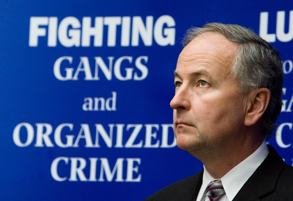 Minister of Justice and Attorney General of Canada Rob Nicholson speaks during a press conference at police headquarters in Ottawa on Thursday Feb. 26, 2009. (Sean Kilpatrick / THE CANADIAN PRESS)