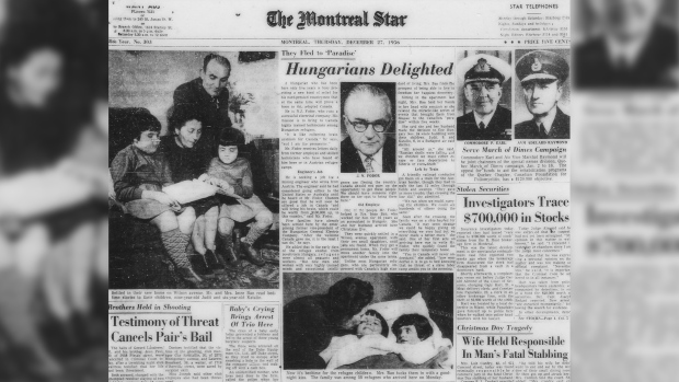 Montreal Star article on Hungarian refugees