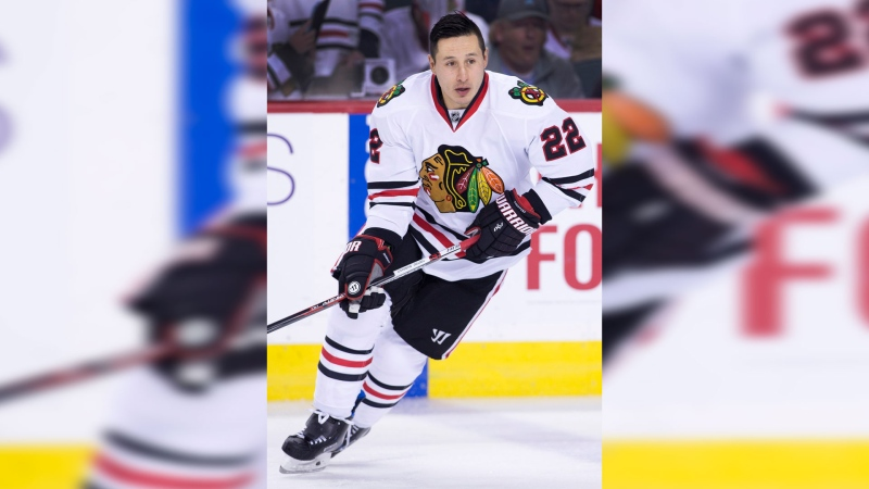 NHL profile photo on Chicago Blackhawks' Jordin Tootoo at a game against the Calgary Flames in Calgary, Alberta on Nov. 18, 2016. (Larry MacDougal/The Canadian Press)
