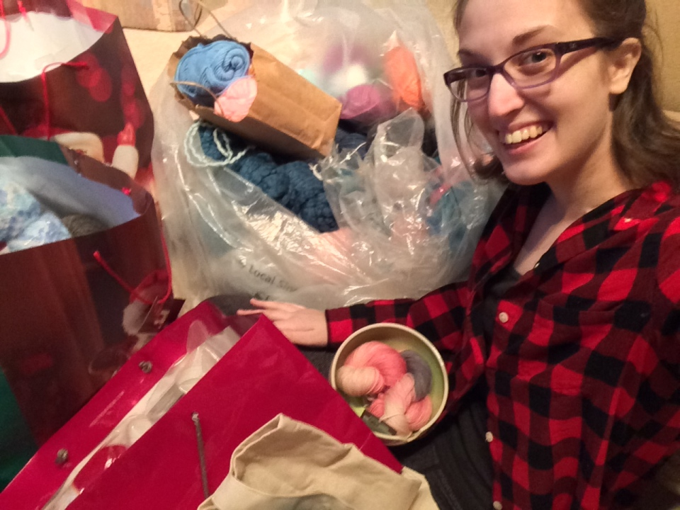 Metro Vancouverites donated bags and bags of yarn and crochet supplies to Catherine Richardson, 25, after hearing her inspiring story. (CTV News). Dec. 26, 2016.
