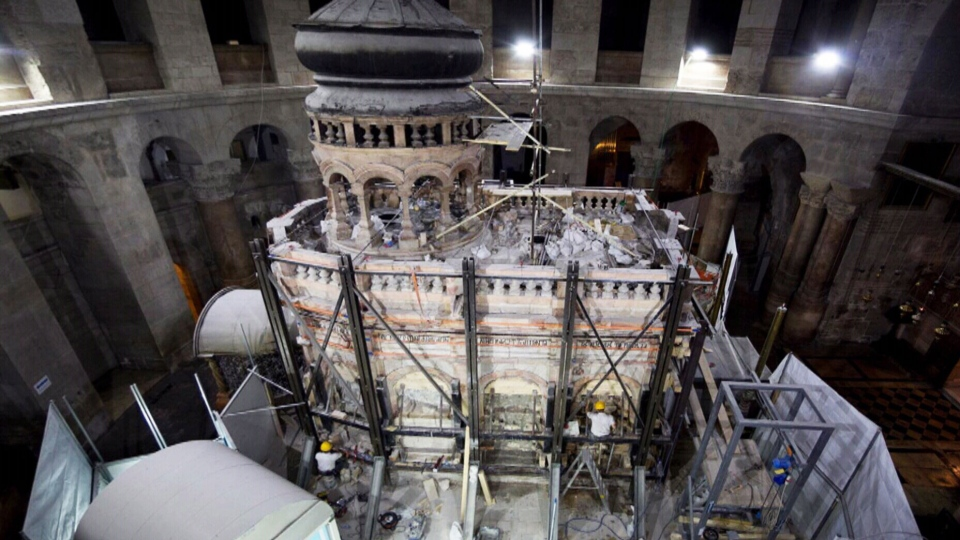 Thanks in part to money raised by several Canadian churches, the Aedicule is undergoing its first major restoration in more than two centuries (CTV News / National Geographic).