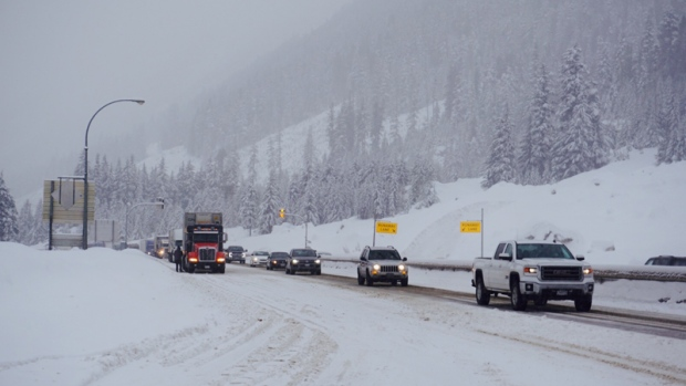 Snowfall warning for part of Coquihalla Highway