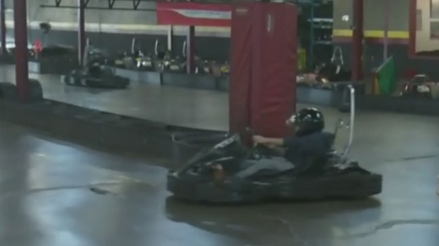 What s on winter go karting ctv montreal news for Go kart interieur montreal
