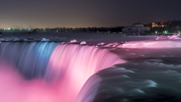 Image result for lights at niagara falls