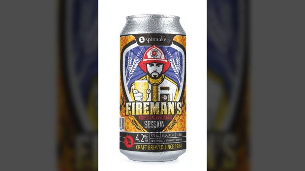Spinnakers firefighter beer