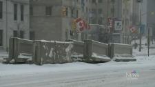 Terrorism concrete barriers in Ottawa
