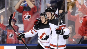 Canada forward Matt Barzal at World juniors 2016