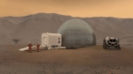 An artist's rendering of the Mars Ice Home concept. (NASA/Clouds AO/SEArch)