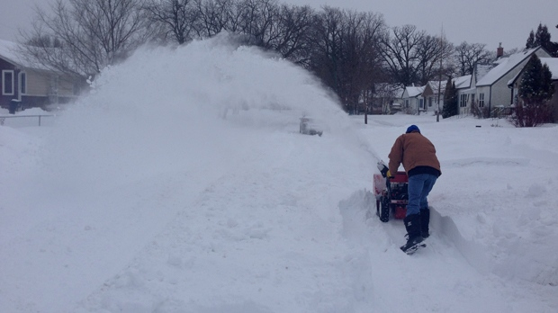 This is the second snowiest December of all time in Winnipeg, with more than 67 centimetres of snowfall. (Emad Agahi/CTV Winnipeg)