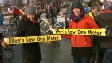 """Demonstrators demand """"Ellen's Law"""" in Moncton, N.B"""