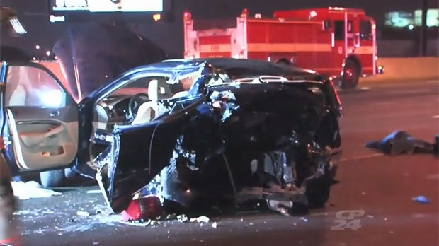 Several people were injured following a crash on the Gardiner Expressway near Highway 427.
