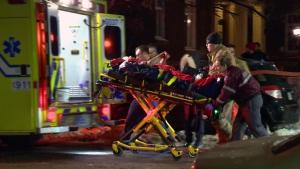 Ambulance, stabbing victim
