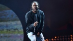FILE - In this Sept. 24, 2016 file photo, hip-hop recording artist Kendrick Lamar performs at the 2016 Global Citizen Festival in Central Park in New York. (Photo by Evan Agostini/Invision/AP, File)