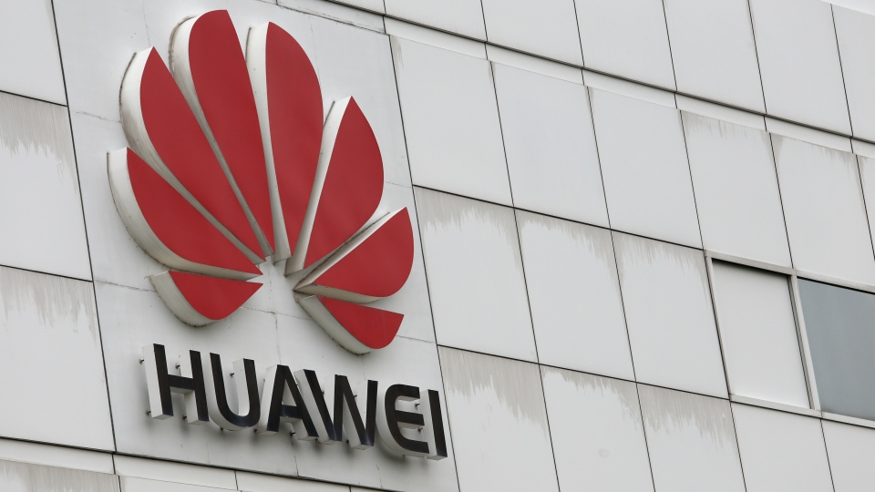 The logo of Chinese tech giant Huawei © AFP /  AARON TAM