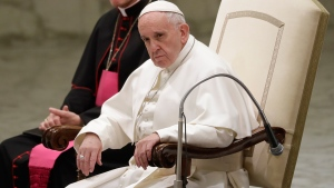 Pope Francis sits during his weekly general audience at the Vatican, Wednesday, Jan. 4, 2017. (AP / Andrew Medichini)