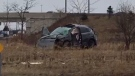 OPP responded to a fatal collision at the Highway 401 off ramp at Wellington Road on Wednesday, January 4, 2016. (Photo courtesy of OPP, West Region)