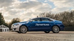 Teams from BlackBerry's QNX and the University of Waterloo helped develop an autonomous Lincoln MKZ unveiled at the 2017 Consumer Electronics Show in Las Vegas. (InvestStratford / Terry Manzo)