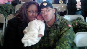 Shanna and Lionel Desmond hold their daughter Aaliyah in a photo from the Facebook page of Shanna Desmond. (HO-Facebook/The Canadian Press)