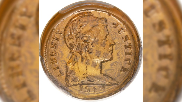 Sold for US$70K: Rare glass penny made during Second World