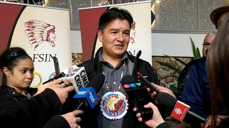 FSIN Chief Bobby Cameron speaks to media in this CTV file photo. (Chad Hills/CTV Saskatoon)