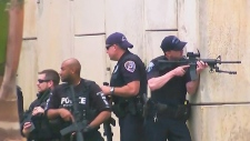 Armed police officers at Ft. Lauderdale airport