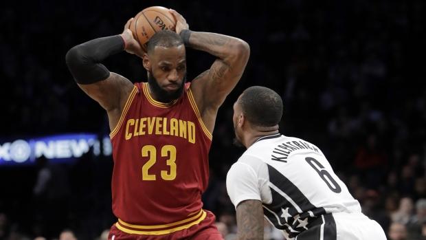 d9d36548faf0a NBA scores  LeBron James scores 36 points as Cavs beat Nets 116-108 ...