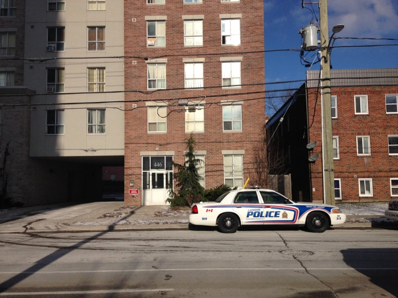 London Police are investigating on Saturday, Jan. 7, 2017, after an injured man found at a King Street apartment later died in hospital.