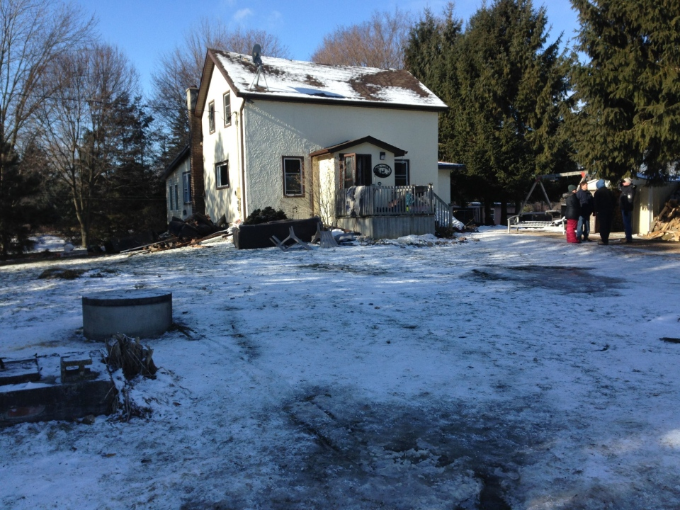 The Empey's have lost a lot of their possessions in a early morning house fire. ( Photo: Allison Tanner)