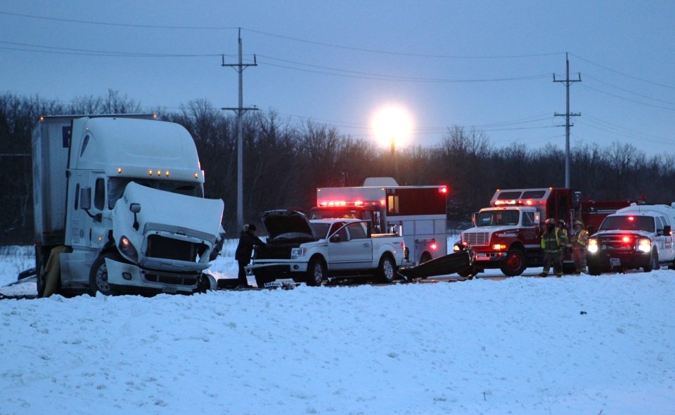 A man whose vehicle was stuck in a ditch near Richer, Man died when a semi-truck struck him Sunday morning. (Source: Grant Burr/The Carillon)