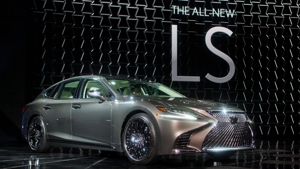 The new Lexus LS 500 sedan is unveiled at the North American International Auto Show, Monday, Jan. 9, 2017, in Detroit. (AP Photo/Tony Ding)
