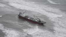 The Acra 1 after it ran aground