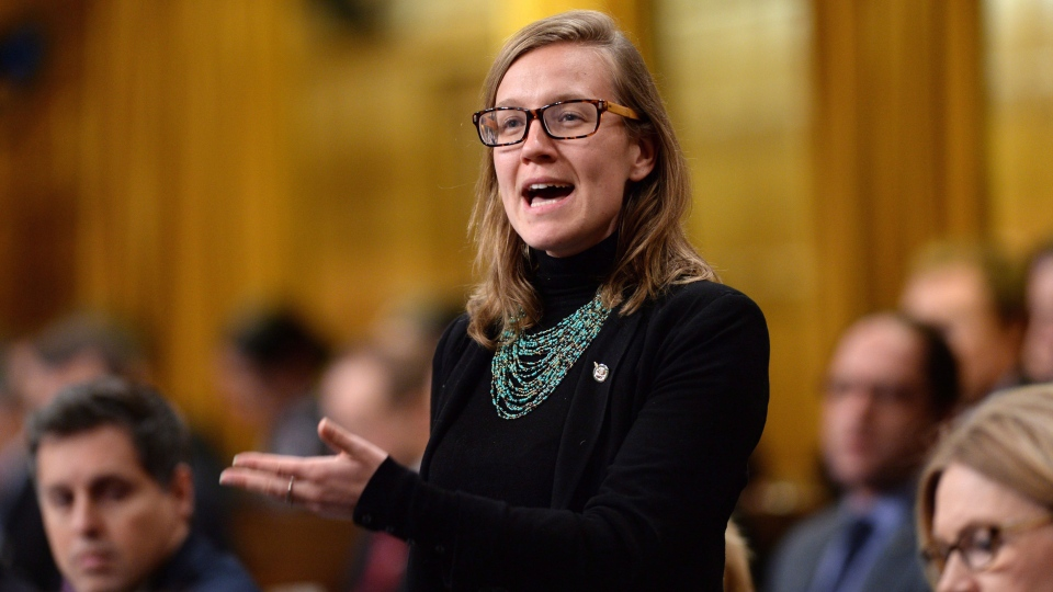 Liberal MP Karina Gould responds to a question during question period in the House of Commons on Parliament Hill in Ottawa on Tuesday, Feb. 16, 2016. (Sean Kilpatrick / THE CANADIAN PRESS)