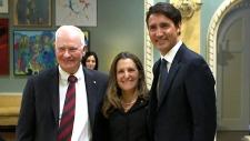 Johnston, Trudeau, Freeland