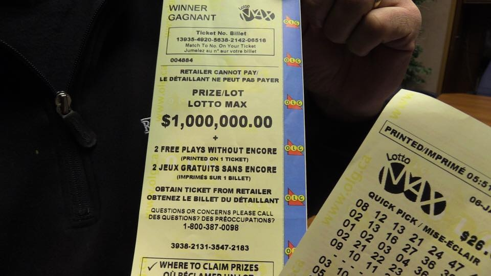 $1M Lotto Max winning ticket claimed by CKNX employees on Jan. 10, 2017. (Scott Miller/CTV)