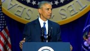 CTV News Channel: Obama farewell speech, part 1