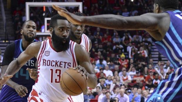 249d08cbfaf5 NBA scores  Harden picks up triple-double as Rockets beat Hornets ...
