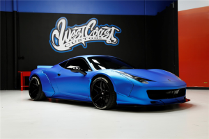 A Ferrari custom-built for Justin Bieber is on the auction block. (Barrett-Jackson auctions)