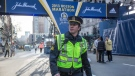 "In this image released by CBS Films, Mark Wahlberg appears on the set of the film, ""Patriots Day."" (Karen Ballard/CBS Films and Lionsgate Films via AP)"