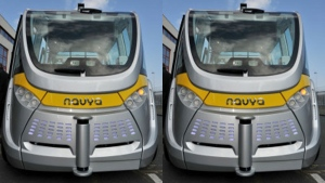 French maker of driverless shuttles opens U.S. plant