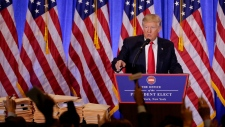 Donald Trump takes questions