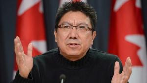 In this file photo, Nishnawbe Aski Nation (NAN) Grand Chief Alvin Fiddler speaks in Ottawa on January 4, 2013. (THE CANADIAN PRESS / Sean Kilpatrick)