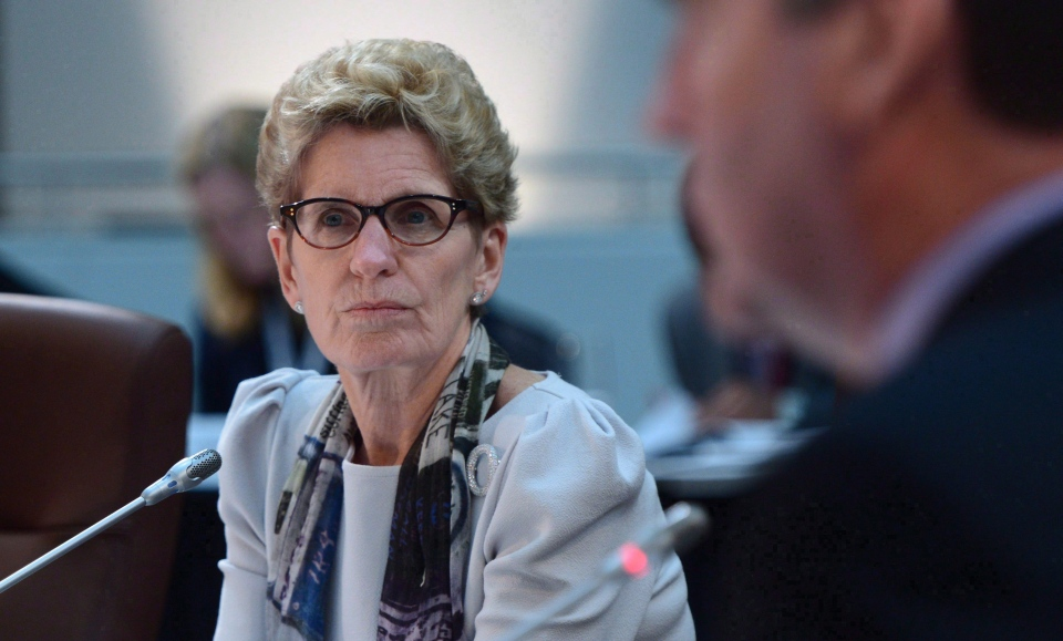 Ontario Premier Kathleen Wynne takes part in the meeting of First Ministers in Ottawa on Friday, Dec. 9, 2016. (The Canadian Press/Sean Kilpatrick)