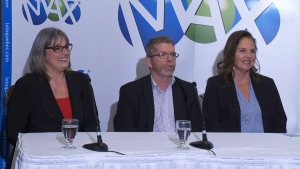 Some of the new millionaires attended a news conference in Montreal six days after the Jan. 6 draw.