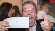 Lottery winner Gilles Leprohon