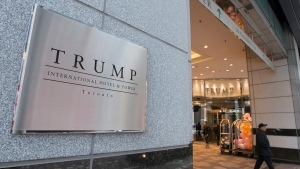The entrance to the Trump International Hotel and Tower is shown in Toronto, Wednesday, Dec.9, 2015. (THE CANADIAN PRESS / Graeme Roy)