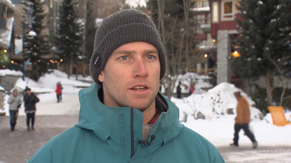 Tom Oye was boarding in Whistler backcountry when he got caught in an avalanche. (CTV)