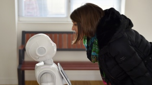 Mady Delvaux, a Socialist MEP from Luxembourg, authored a report that is a broad overview on how robots are creeping into the lives of humans and what the EU can do to stay in control. (LOIC VENANCE / AFP)
