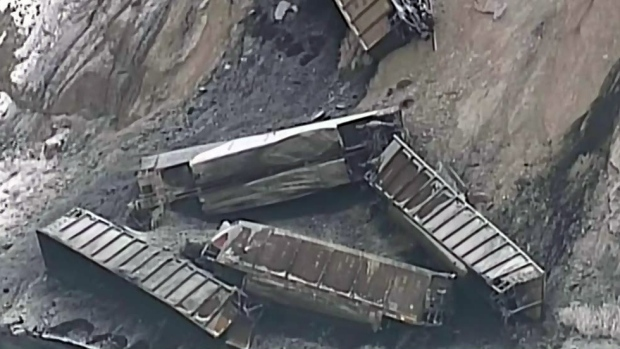 The railway says 29 cars derailed at about 3:45 p.m. from a westbound freight train about seven kilometres west of Ashcroft.
